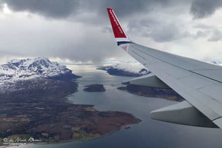 Anflug auf Tromsø